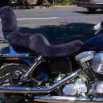 Harley FXD Dyna Super Glide 1996 Charcoal Sheepskin Motorcycle Seat Cover