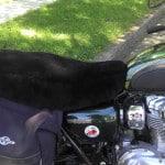 Kawasaki W 800 2011- Black Sheepskin Motorcycle Seat Cover