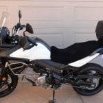 Suzuki DL 650 A V Strom 2011- Black Sheepskin Motorcycle Seat Cover