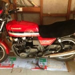 Kawasaki GPZ 1100 B1, Z 1000 J 1981 Black Sheepskin Motorcycle Seat Cover