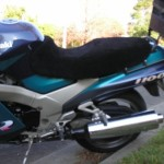 Kawasaki ZZR1100 1993 Black Sheepskin Motorcycle Seat Cover