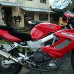 Honda VTR 1000 Firestorm 1997 Black Sheepskin Motorcycle Seat Cover
