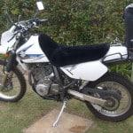 Suzuki DR650 Black Sheepskin Motorcycle Seat Cover