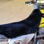 Suzuki DR650 1996 Black Sheepskin Motorcycle Seat Cover