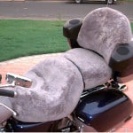 Honda Valkyrie Interstate 2000 Silver Sheepskin Motorcycle Seat Cover