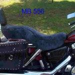 Honda Shadow VT1100 Aero 1998 Charcoal Sheepskin Motorcycle Seat Cover