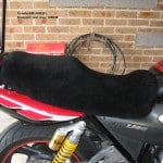Yamaha XJR1300 SPM 2000 Black Sheepskin Motorcycle Seat Cover