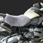 BMW R 1200 GS 2004 Mid Grey Front Sheepskin Motorcycle Seat Cover