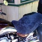 Moto Guzzi California EV 1999 Charcoal Sheepskin Motorcycle Seat Cover