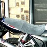 Suzuki GSX1400 2002 Silver Sheepskin Motorcycle Seat Cover