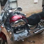 Triumph Rocket 3 2006 Black Sheepskin Motorcycle Seat Cover