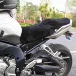 Yamaha FZ1S 2006 Black Sheepskin Motorcycle Seat Cover
