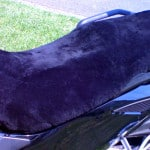 Can Am Spyder RS 2007 Charcoal Sheepskin Motorcycle Seat Cover