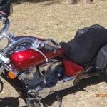Honda VT 750 S 2010 Black Sheepskin Motorcycle Seat Cover