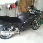 Honda CBR 1100 XX Superblackbird 1997- Black Sheepskin Motorcycle Seat Cover