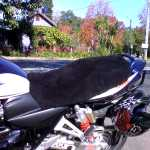 Suzuki GSX 1400 2001 Black Custom Made Sheepskin Motorcycle Seat Cover