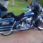 Harley Davidson FLHTCU 2008 Black Sheepskin Motorcycle Seat Cover