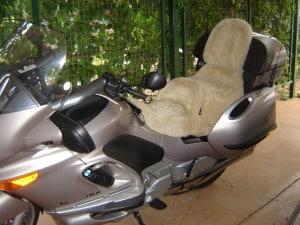 BMW K1200LT 1999 Cane Sheepskin Motorcycle Seat Cover
