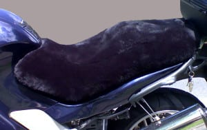 BMW K1200GT 2003 Charcoal Sheepskin Motorcycle Seat Cover