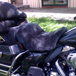Harley Davidson FLHTCU 2008 Charcoal Sheepskin Motorcycle Seat Cover