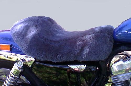 Harley Davidson 883 Sportster Single seat 2009- Mid Grey Sheepskin Motorcycle Seat Cover