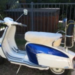Lambretta. TV 175 Series 3, 1962. Bone custom made motorcycle seat cover.