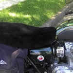 Kawasaki W 800 2011- Black Sheepskin Motorcycle Seat Cover