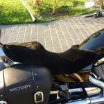 Victory Boardwalk 2013- Black Sheepskin Motorcycle Seat Cover