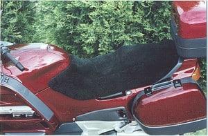 Honda ST 1100 1990 Black Sheepskin Motorcycle Seat Cover
