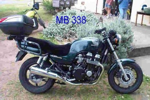 Honda CB750F2 1994 Black Sheepskin Motorcycle Seat Cover