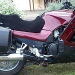 Kawasaki GTR1000 1994 Black Sheepskin Motorcycle Seat Cover