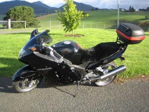 Honda CBR1100XX blackbird 1997 Black Sheepskin Motorcycle Seat Cover