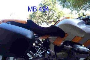 BMW R 1100 S 1998 Black Sheepskin Motorcycle Seat Cover