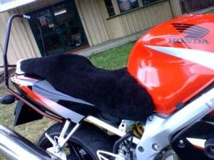 Honda CBR600FX 1999 Black Sheepskin Motorcycle Seat Cover
