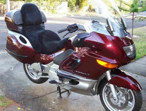 BMW K1200LT 1999 Black Sheepskin Motorcycle Seat Cover