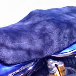 Yamaha XJR1300 1999 Mid Grey Sheepskin Motorcycle Seat Cover