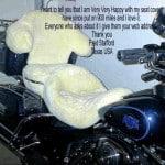 Harley Davidson FLHTCU Ultra Classic 2000 Cream Sheepskin Motorcycle Seat Cover