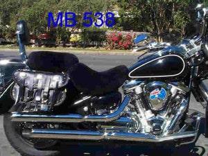 Yamaha XV1600 Roadstar 1999 Black Sheepskin Motorcycle Seat Cover