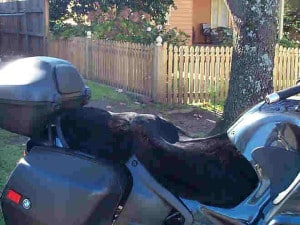 BMW R1100RT 1995 Black Sheepskin Motorcycle Seat Cover