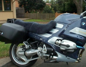 BMW R1150RS 2001 Charcoal Sheepskin Motorcycle Seat Cover