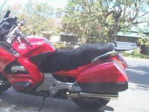 Honda ST1300 2002 Charcoal Sheepskin Motorcycle Seat Cover
