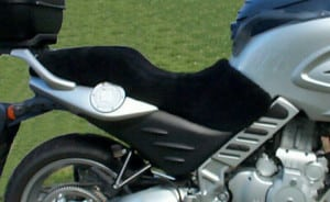 BMW F650CS Scarver 2002 Black Sheepskin Motorcycle Seat Cover