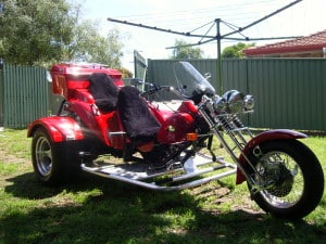 Oz Trike Highway Black Sheepskin Motorcycle Seat Cover