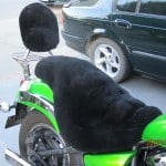 Kawasaki VN900 Custom 2006 Black Sheepskin Motorcycle Seat Cover