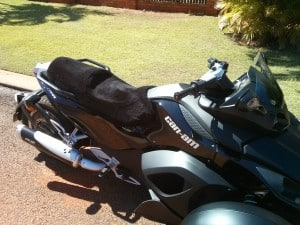 Can Am Spyder RS 2007 Black Sheepskin Motorcycle Seat Cover