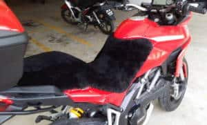 Ducati Multistrada 1200. 2010-2012 Black Sheepskin Motorcycle Seat Cover