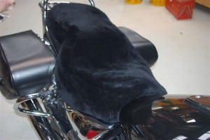 Triumph Thunderbird Long haul touring seat a9700224 2010- Black Sheepskin Motorcycle Seat Cover