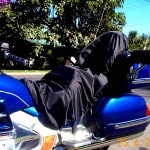 Honda GL1800 2000 Custom Made rain cover for Sheepskin Motorcycle Seat Cover.