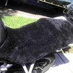 Triumph Explorer 1200. 2012- Black Sheepskin Motorcycle Seat Cover