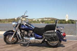 Suzuki C90 Boulevard 1500 CC 2005 - 2011 Black Sheepskin Motorcycle Seat Cover